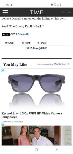 Kestrel pro 1080p wifi HD recording sunglasses for Sale in Gladewater, TX
