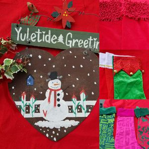 Bundle Deal Red and Green Christmas Decor for Sale in Montclair, CA