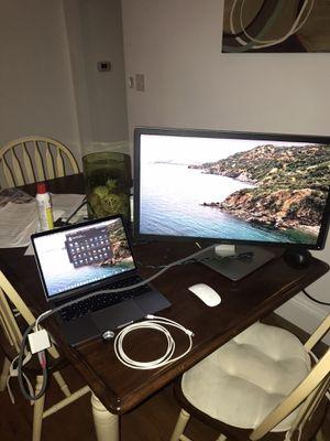 Like New MacBook Pro 2019 Touchbar - 4K Setup w/ 27 inch Dell 4K monitor + apple adapter for Sale in Providence, RI