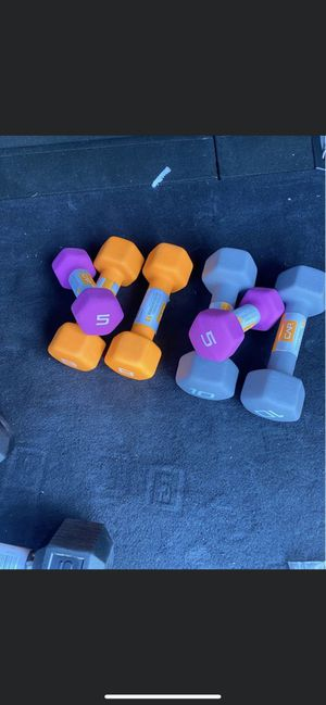 dumbbells for sale 5,10,20 lb Read description!!! for Sale in Everett, MA