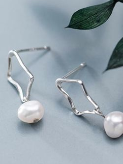 Sterling Silver Imitation Pearl Earrings for Sale in Mount Clare,  WV