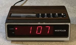 Vintage Working 1984 Small Westclox Digital Alarm Clock for Sale in Chapel Hill, NC