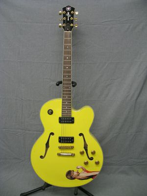 Yamaha AES1500 Custom Fergie Electric Jazz Guitar Yellow Made in Japan for Sale in Los Angeles, CA