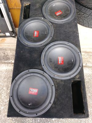 4 Re audio 12's audiopipe bass amp for Sale in Orlando, FL