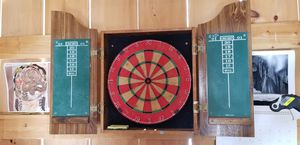 Marlboro country store dartboard and cabinet for Sale in Shepherdstown, WV