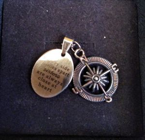 """New """"Sisters"""" silver metal plated adjustable necklace and charms @67th Ave and Thomas for Sale in Phoenix, AZ"""