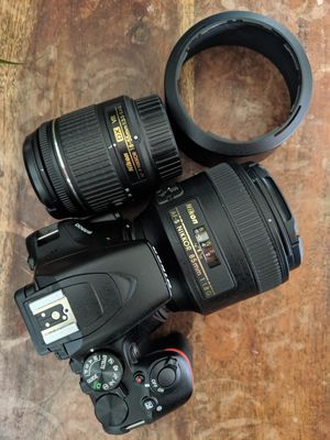 Nikon D3500 with two lenses/chargers for Sale in San Francisco, CA