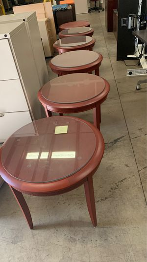 Tables with glass piece on top for Sale in Chesapeake, VA