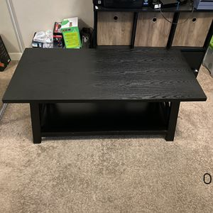 Durable Rectangular Coffee Table with Storage Shelf - Black for Sale in Lemon Grove, CA