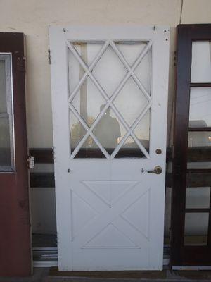Exterior wood door w/ glass for Sale in Fort Lauderdale, FL