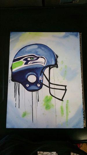 Seattle seahawks custom watercolor painting for Sale in Everett, WA