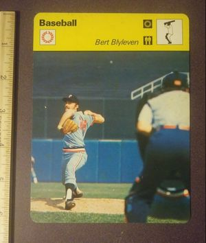 1979 Sportscaster Bert Blyleven Minnesota Twins Sport Photo Large Over-sized Baseball Card HTF Collectible Vintage Italy for Sale in Salem, OH