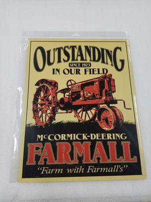 Farmall farm tractor equipment metal sign for Sale in Vancouver, WA