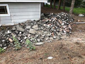 Free bricks rubble rocks fill concrete for Sale in Manson, WA