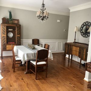 Early 20th Century Vintage Art Deco Waterfall dining room suite (7 pc) for Sale in Leesburg, VA