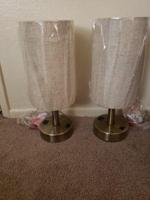 2 pack LED USB Bedside Table & Desk Lamp – Modern Lamp for Sale in Bakersfield, CA