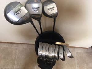 Complete golf package, includes 12 clubs, bag, cart, balls and tees! for Sale in Carol Stream, IL