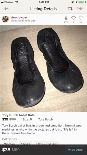 Tory Burch size 6 black flats for Sale in Goodlettsville, TN