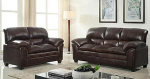 İn stock🍀SAME DAY DELİVERY🍀Selo Mahogany Sofa & Loveseat | U5182 for Sale in Jessup, MD