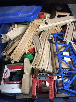 Wooden train set for Sale in Hoffman Estates, IL