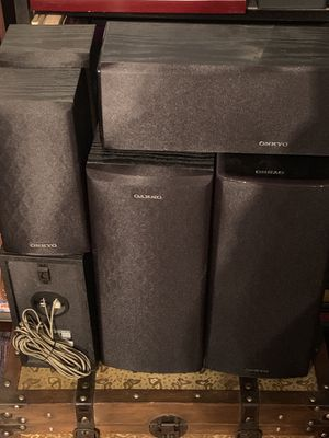 Onkyo speakers and subwoofer for Sale in Baltimore, MD