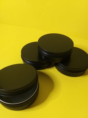 4 oz. Aluminum Tins Container 24 Pack Round Screw Lid Containers Jars Metal Storage Tin Jars Aluminum Tin Cans Food Tins Travel Tins,Black for Sale in Lincoln Acres, CA