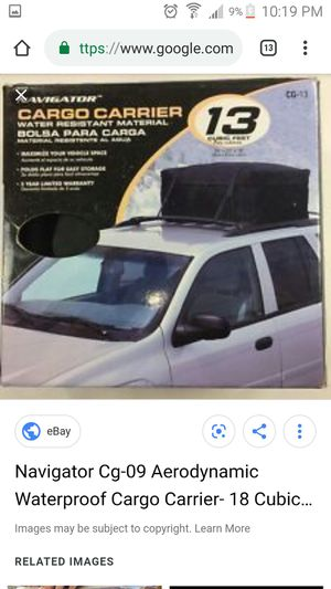 Soft car top luggage carrier for Sale in Taylor Mill, KY