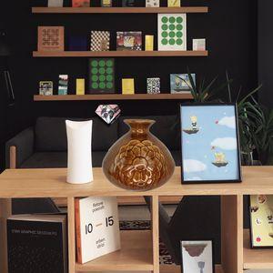 Ceramic Glazed Flower Brown Decorative Vase for Sale in Greenville, SC