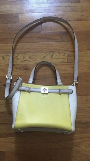 Kate Spade Yellow/Offwhite Leather Bag for Sale in Freehold, NJ