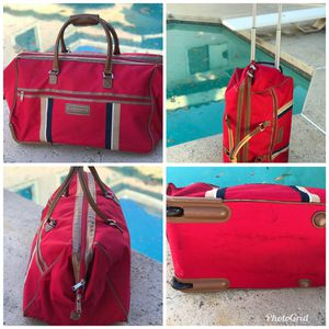 Vtg Tommy Hilfiger Roller Duffle Bag for Sale in Ontario, CA