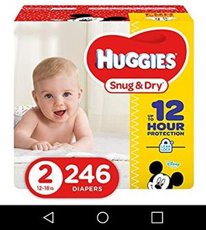 492 Brand new huggies size 2 diapers snug and dry for Sale in Miami Beach, FL