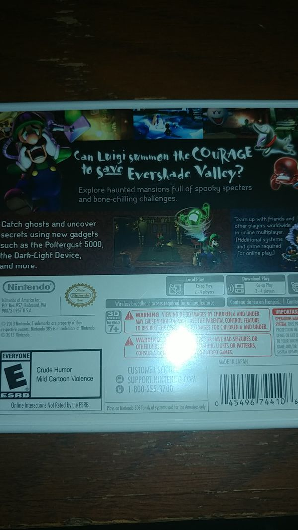 Luigi's mansion dark moon *new*