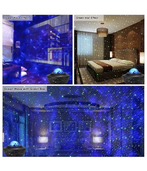 Night Light Projector, 3 in 1 Star Projector with Bluetooth Music Speaker, Night Light Ambiance with LED Nebula Cloud for Baby Kids Bedroom Game Room