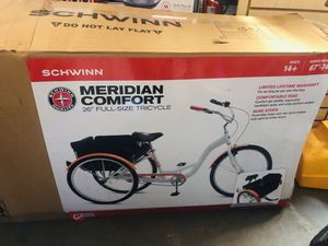 Adult Tricycle Bike Schwinn Meridian 3 Wheel Trike Comfort Folding Baske for Sale in College Park, GA