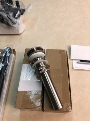 2 Drain sink pop-up Brushed nickel for Sale in Auburndale, FL