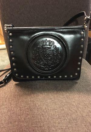 Brand new Patricia Nash 'Caprera Shield' black polished leather shoulder bag for Sale in Wheaton, IL