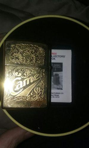 22kt gold plated Camel Zippo lighter 1994 promotional gift for Sale in Glendale, AZ