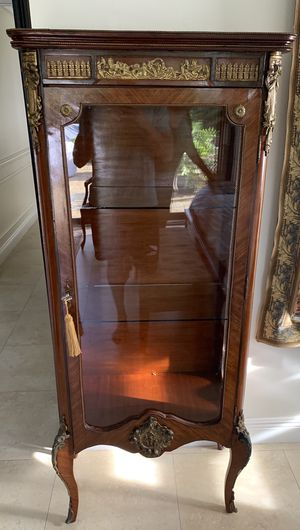 Antique Curio with bronze ormolu detail for Sale in Miami, FL
