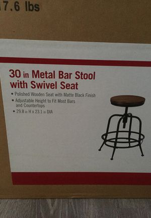 Metal bar stool with swivel for Sale in Palmdale, CA