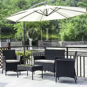 Brand New! 4 Piece Black Outdoor Balcony Patio Furniture Set for Sale in Orlando, FL