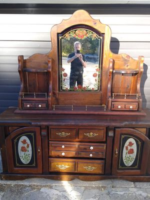 Headboard with mirror for Sale in Genola, UT