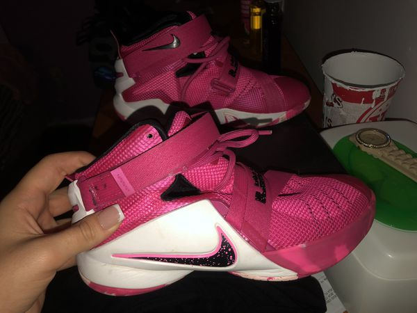 NIKE LEBRON SOLDIER IX BREAST CANCER AWARENESS SHOES PINK