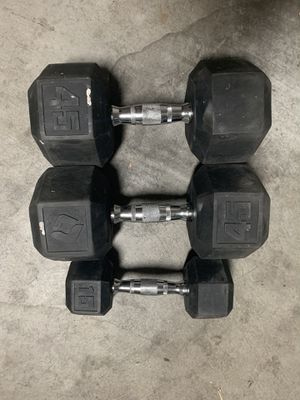 2x45lb & 1x15lb Weights for Sale in Mountain View, CA