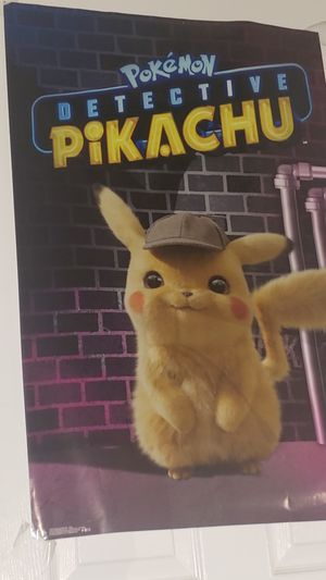 Poster of Detective Pikachu for Sale in Anaheim, CA