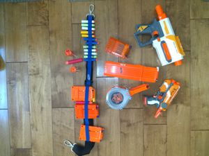 NERF GUN AND ACCESSORIES LOT for Sale in Huntington Beach, CA