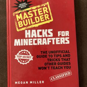 Master builder Minecraft red and black hack book of tips by Megan Miller ages 7 and up for Sale in Gilbert, AZ