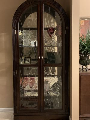 Curio cabinet with glass shelves for Sale in King George, VA
