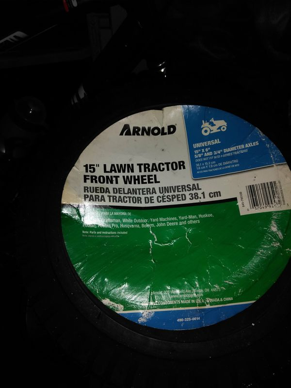 """15"""" Lawn tractor front wheel"""