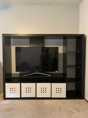 IKEA TV Storage Unit + Cubbies for Sale in Everett, WA