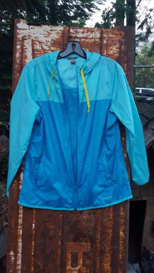 Women's Eddie Bauer zip up windbreaker style light jacket for Sale in Portland, OR